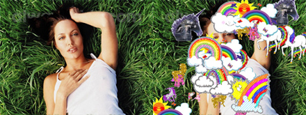 Angelina Jolie full of Unicorns and Rainbows