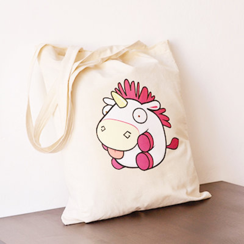 Fluffy unicorn bag