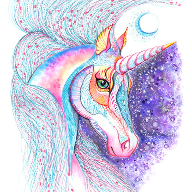 Space unicorn art