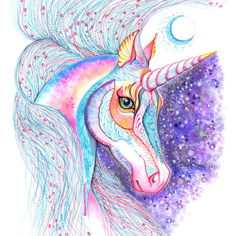 Space unicorn art