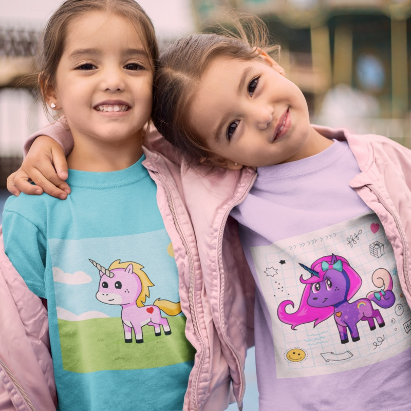 Design your own unicorn and put it on a shirt