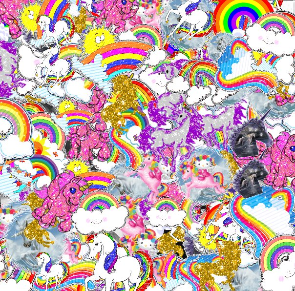 The glad jolly awesome joyful unicorn
