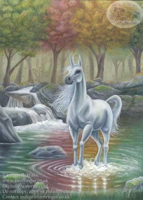 Cornify unicorn and rainbow happiness
