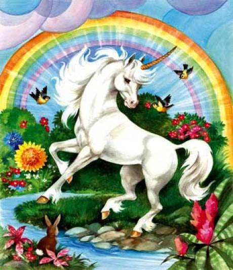 Unicorn in the Sparkly Gardens