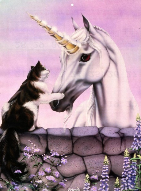 Unicorn and Cat Friends