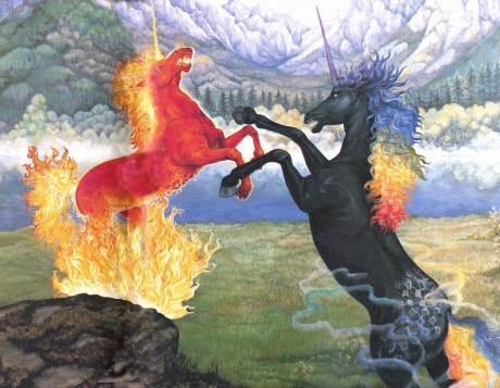 Fiery Unicorn Battle