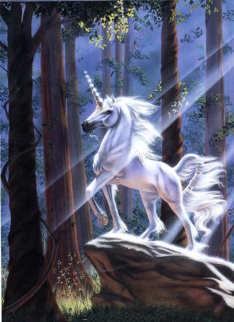 Majestic Unicorn in the Forest