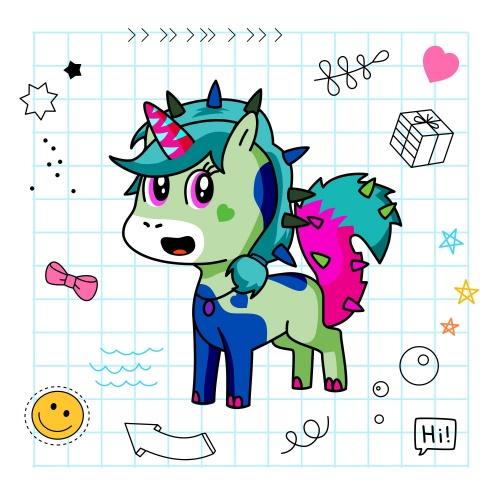 Best friend of Zia the cool unicorn who designs amazing unicorns.