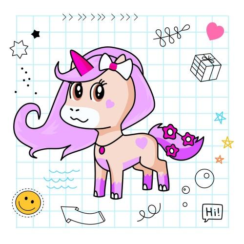 Best friend of Annie (Avani) who designs amazing unicorns.