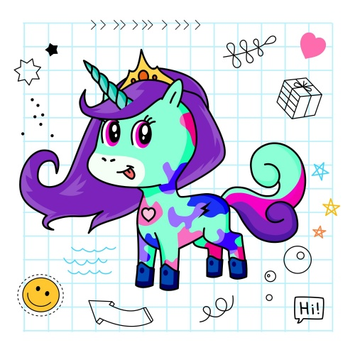 Best friend of APPYY who designs amazing unicorns.