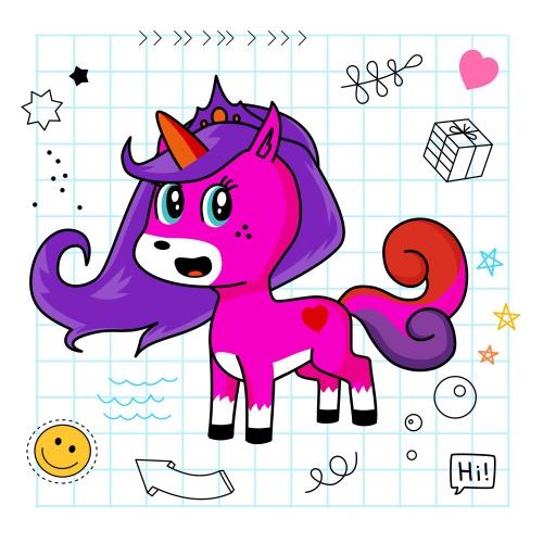 Best friend of hi who designs amazing unicorns.