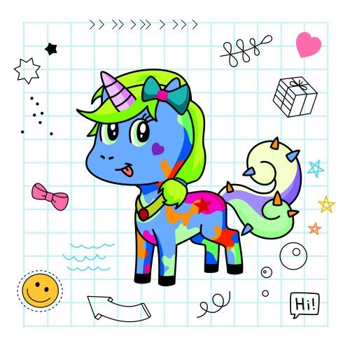 Best friend of Maya who designs amazing unicorns.