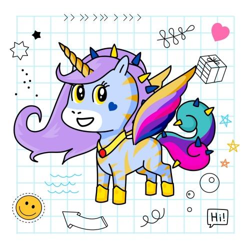 Best friend of Saniyah who designs amazing unicorns.